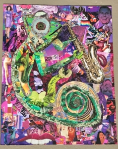 1. Alex Strelkow—The Chameleon 2--Collage on Paper